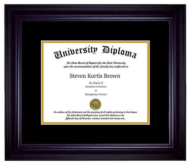 Perfect Cases, Inc. - Single Diploma Frame with Double Matting ...