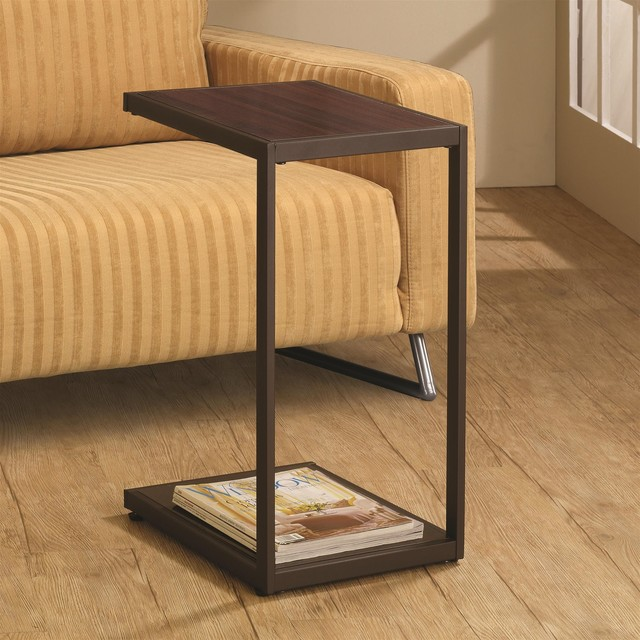 Coaster Snack Table. in Brown Finish 901007