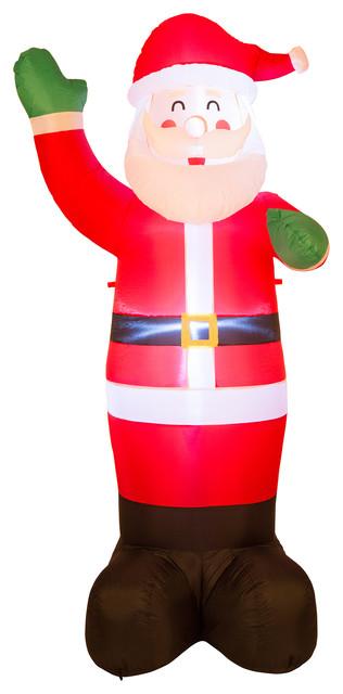 8.14&x27;h Lighted Inflatable Santa Decor.