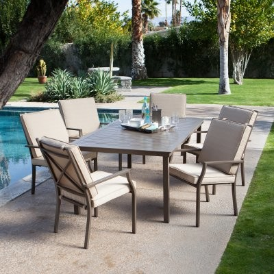 Incroyable Coral Coast Bellagio Cushioned Aluminum Patio Dining Set   Seats 6