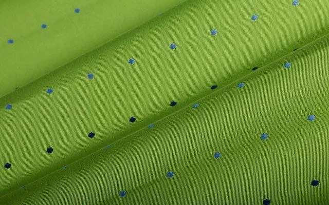 Outdoor Spot Upholstery Fabric In Lime Green