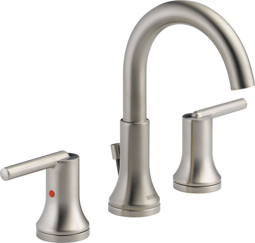 Delta Trinsic Two Handle Widespread Bathroom Faucet, Stainless, 3559-SSMPU-DST