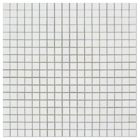 "12""x12"" Thassos White Greek Marble Polished Mosaic Tile"