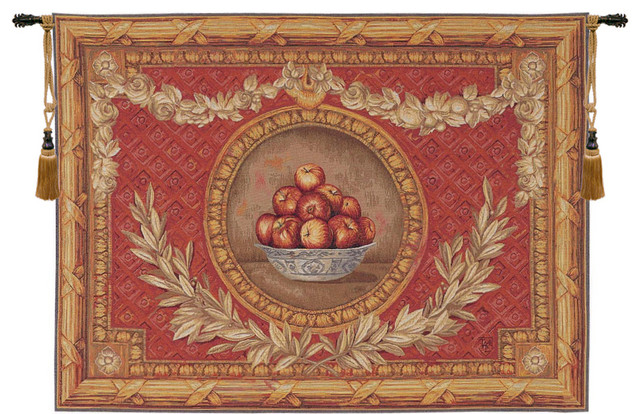 """Vase Empire, European Wall Tapestry, 44""""x58"""" - Traditional ..."""