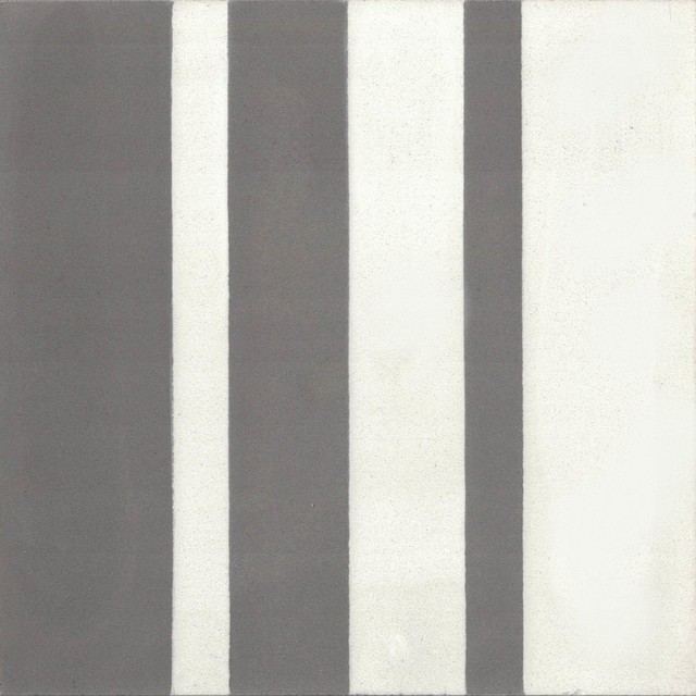 """Barcode Shadow Cement Tile, 8"""" Square, Set Of 12."""