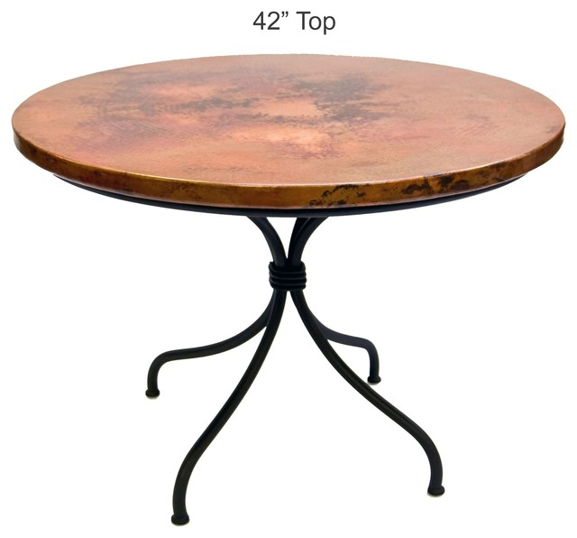Italia Dining Table With 42 Round Top Traditional Dining
