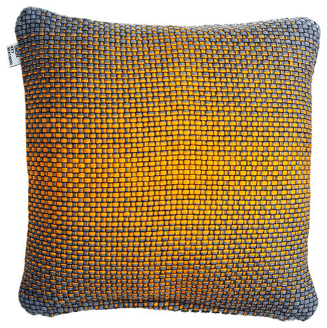 Double-Sided Gradient Cushion Cover, Yellow.