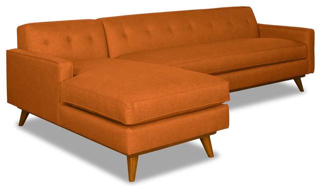 Fantastic Clinton Ave 2 Piece Sectional Sofa Sweet Potato Chaise On Left Ncnpc Chair Design For Home Ncnpcorg