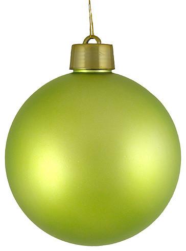 12 huge matte key shatterproof christmas ball ornament key lime green