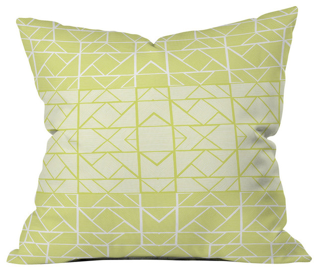 Gneural Shifting Pyramids Lemon Outdoor Throw Pillow - Modern - Outdoor Cushions And Pillows ...