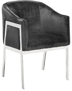 Sunpan Club Collection Rialto Chair, Bella Shale Gray Fabric