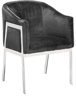 Sunpan Club Collection Rialto Chair, Bella Shale Gray Fabric