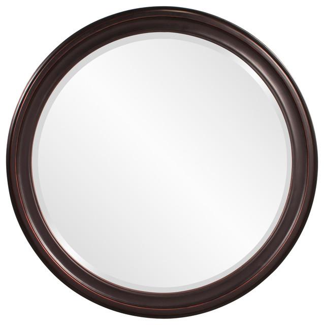 George Oil Rubbed Bronze Round Mirror. -1