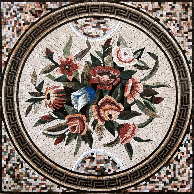 Mosaic Wall Art Roman Assortment Contemporary Tile