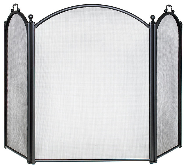 Black Screen Traditional Fireplace Screens By Achla Designs