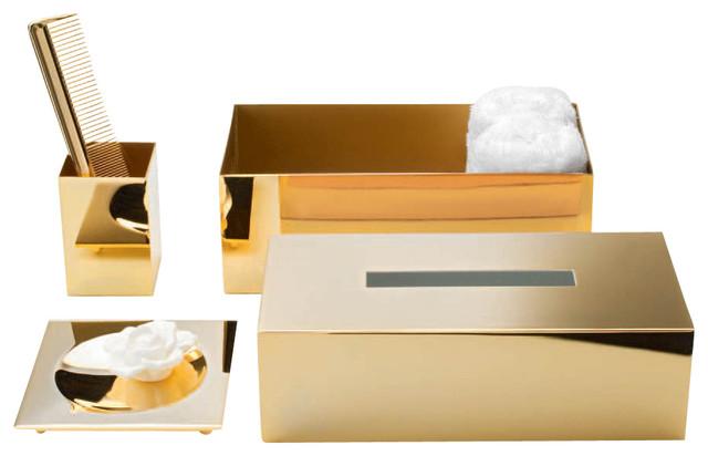 Harmony 509 Tissue Box In Gold