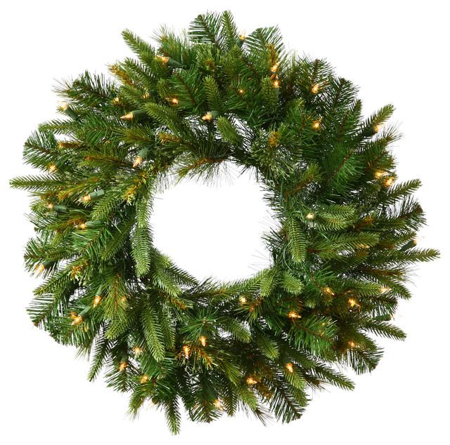 Cashmere Wreath, 50 Warm White Led, 30.