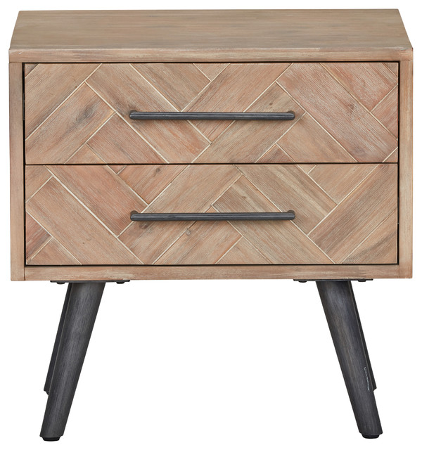 Paloma Mosaic Coffee Table: Soren 2 Drawer Nightstand By Kosas Home