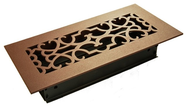 """Renaissance Solid Steel Supply Vent, Oil Rubbed Bronze, 30""""x4 Supply."""