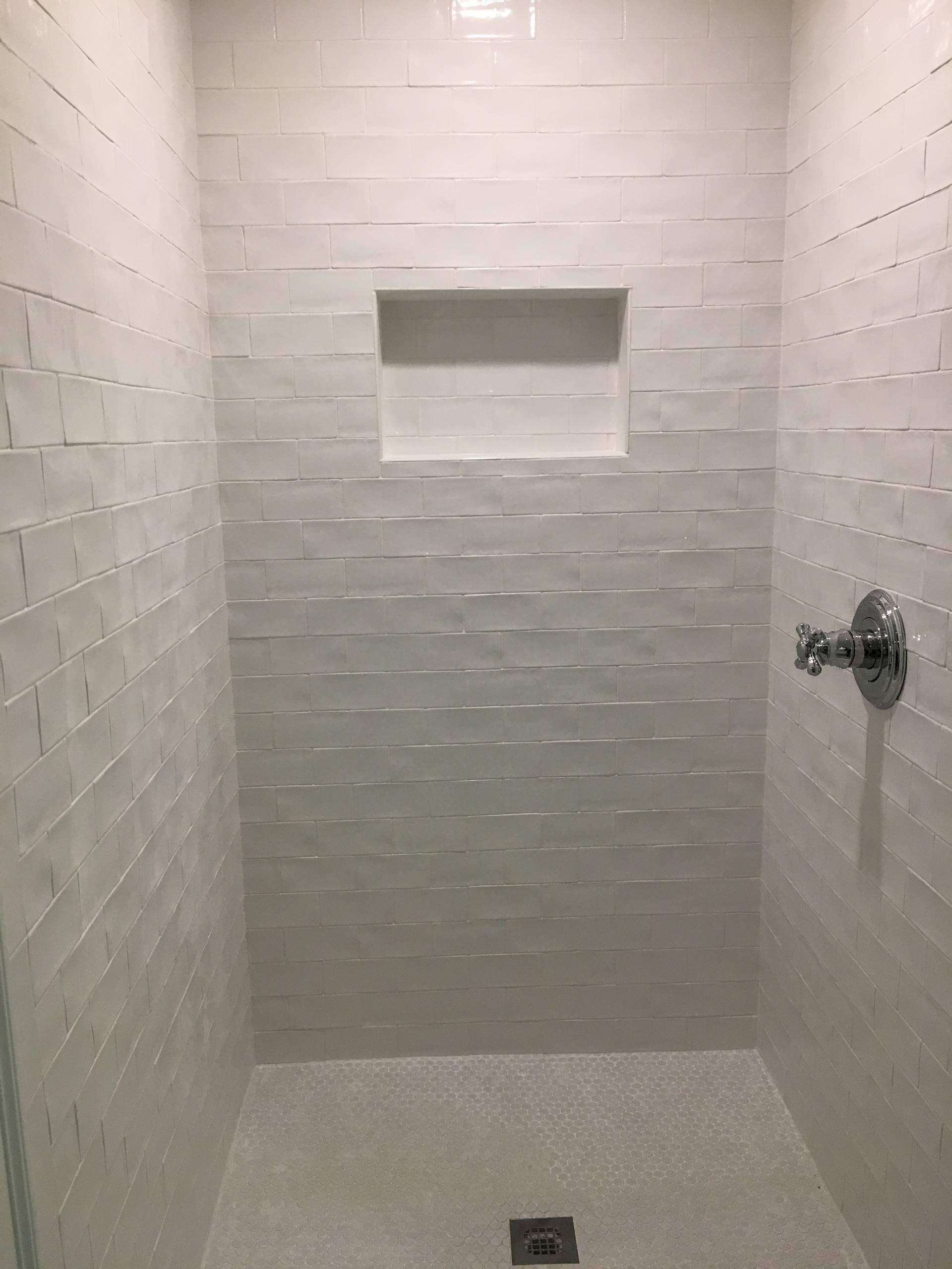 Wellesley Girls Black and White Bathroom