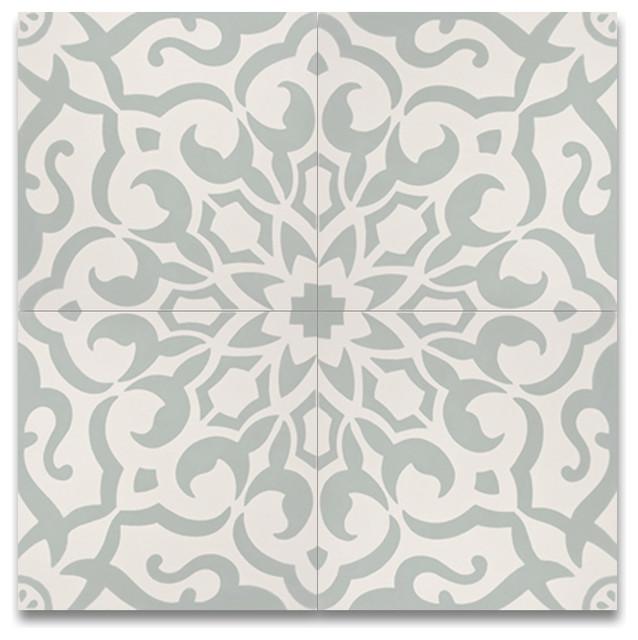 Moroccanmosaictile House Atlas Handmade Cement Tile Green