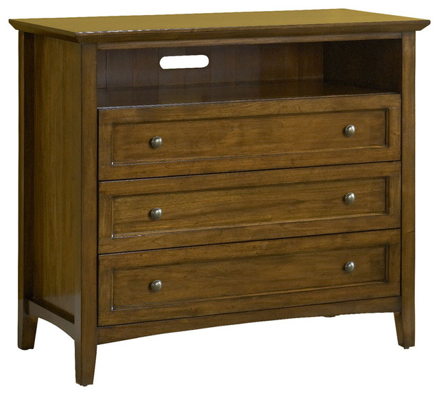 Paragon 2-Drawer Media Chest, Truffle.