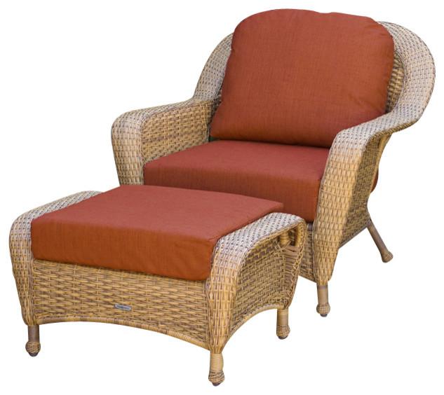 Bronwyn Chair And Ottoman Set, Tortoise, Monserrat Sangria