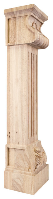 Fcore-Ald Acanthus Fluted Traditional Fireplace Corbel.