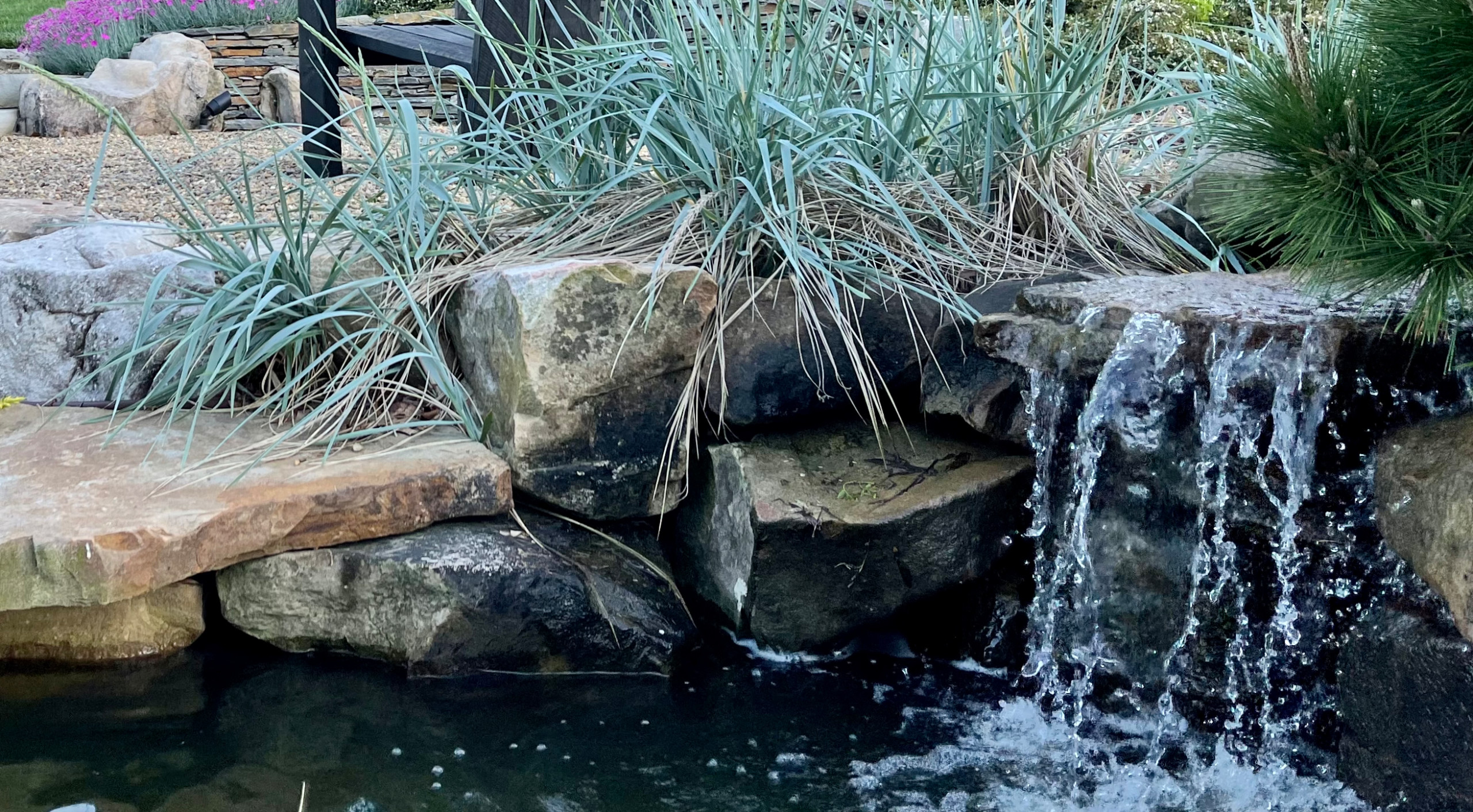 The front waterfall.