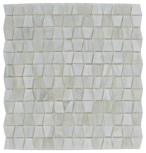 Mosaic Tiles Luxe White Glacier Glass, 300x300 mm, Set of 5 m²