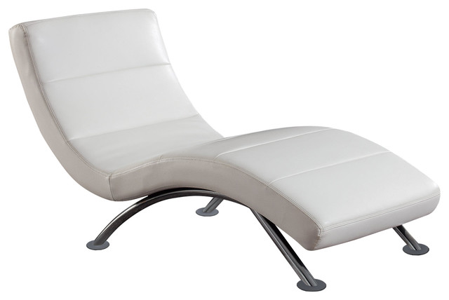 Global Furniture Chaise, White Contemporary Indoor Chaise Lounge Chairs