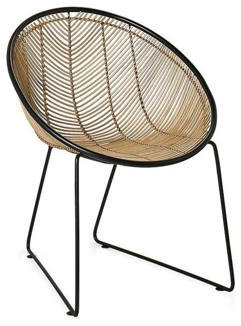 Swell Torre Tagus Casa Rattan Scoop Chair Natural Black Uwap Interior Chair Design Uwaporg