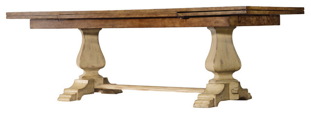 Benoit Refectory Dining Table, Driftwood.