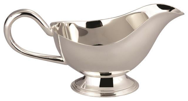 Elegance Silver Plated Gravy Boat Bowl Contemporary Gravy Boats By Elegance Silver Houzz