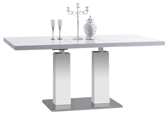 Samis Expandable Dining Table, White