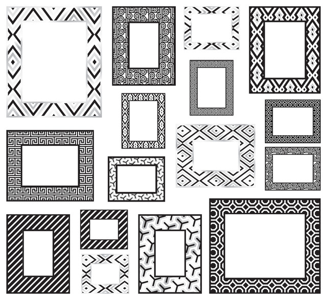 Black/White Frames Wall Decals - Contemporary - Wall Decals - by ...