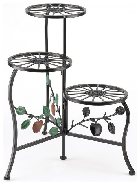 Country Apple 3-Plant Stand/shelf.