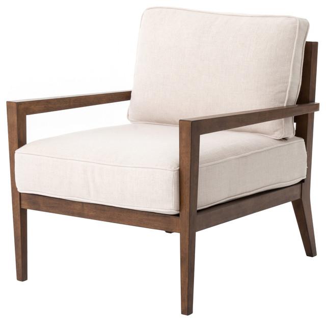 Kensington Laurent Wood Frame Accent Chair Transitional