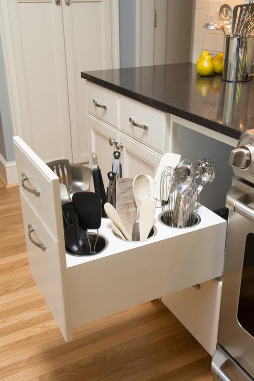 creative kitchen utensil storage portland houzz