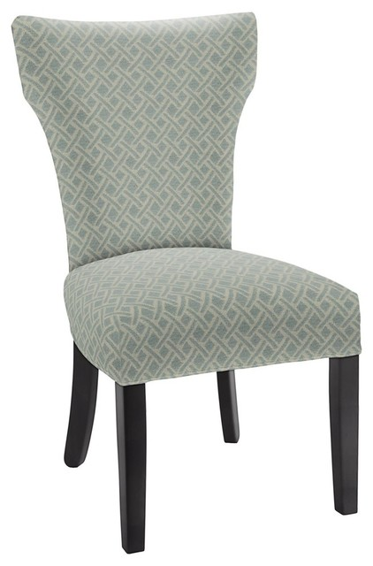 hekman woodmark brianna dining chair very light blue green
