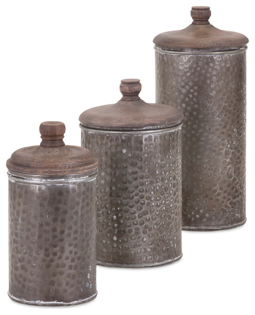 brampton lidded canisters 3 piece set kitchen canisters