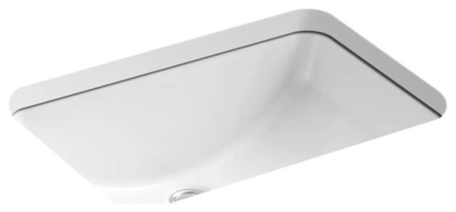Kohler K-2214-0 Ladena Undercounter Bathroom Sink, White.