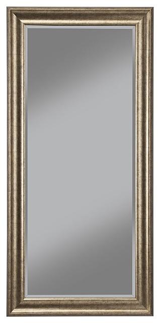 Full Length Leaner Mirror Antique Gold Transitional