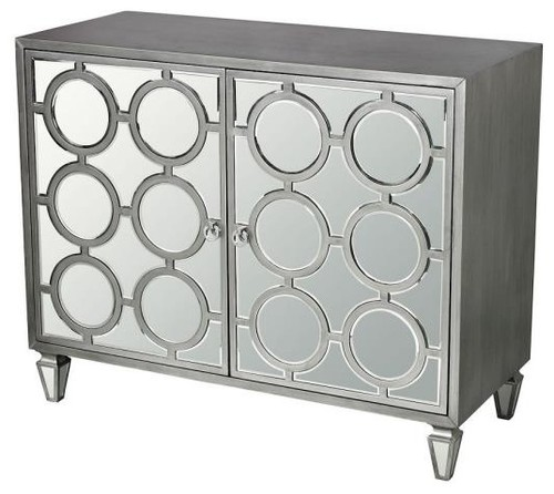 Sterling Industries 42 Ring Cabinet, Clear Mirror/Silver Finish