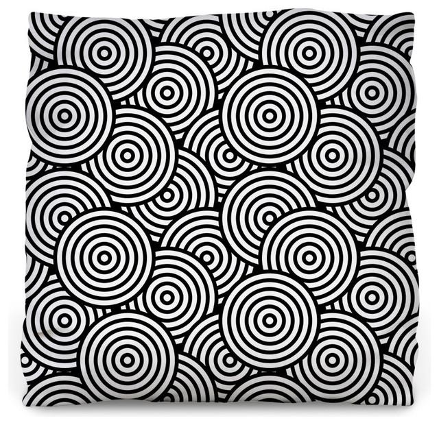 Psychedelic Circles Throw Pillow - Contemporary - Decorative Pillows - by WallsNeedLove