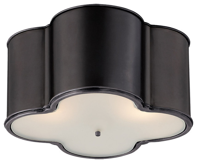 Alexa Hampton Basil 3-Light Flush Mount, Gun Metal