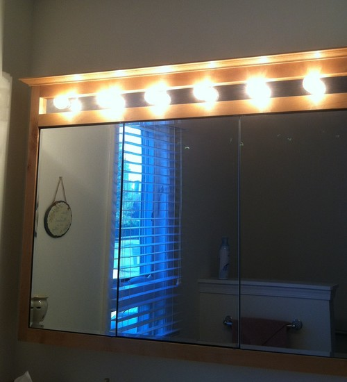 suggestions to replace built in globe lights in medicine cabinet