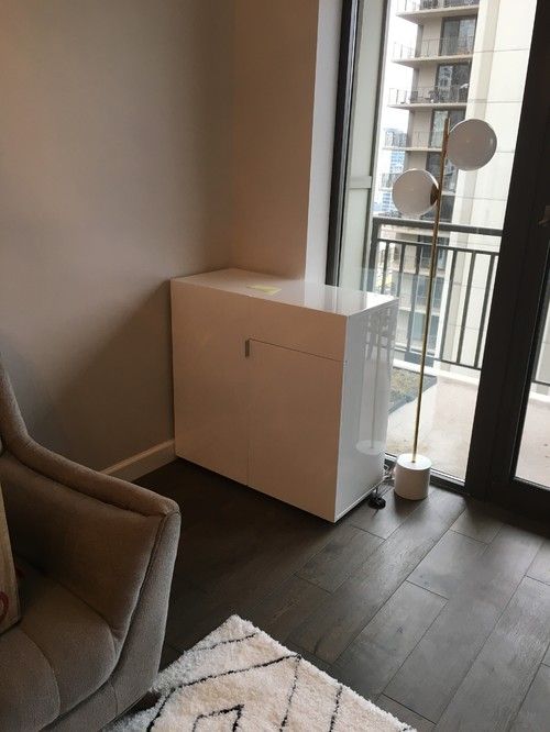 Help! Hiding wires & living room furniture
