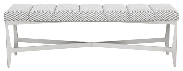 Freda Bench, Keller Grey Fabric.