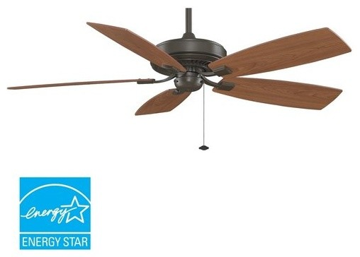 "Fanimation Edgewood Deluxe 60"" 5 Blade Energy Star Ceiling Fan - Blades Included."